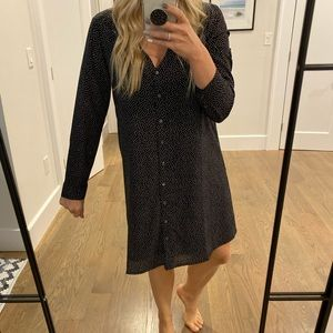 JCrew Factory Long Sleeve Shift Dress